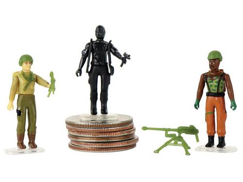World's Smallest G.I. Joe vs Cobra Duke, Roadblock & Snake Eyes 1.25-Inch Set of 3 Micro Figures