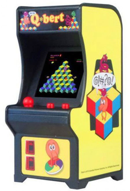 Tiny Arcade Q*bert 4-Inch Micro Video Game Cabinet