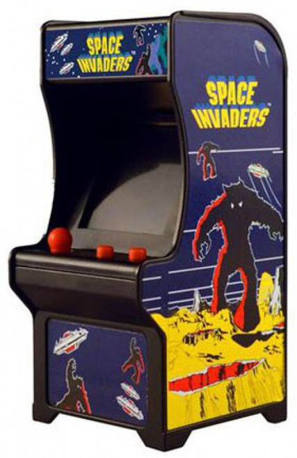 Tiny Arcade Space Invaders 4-Inch Micro Arcade Video Game Cabinet