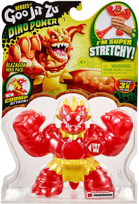 Heroes of Goo Jit Zu Dino Power (Series 3) Blazagon Action Figure [Yellow Shorts!]