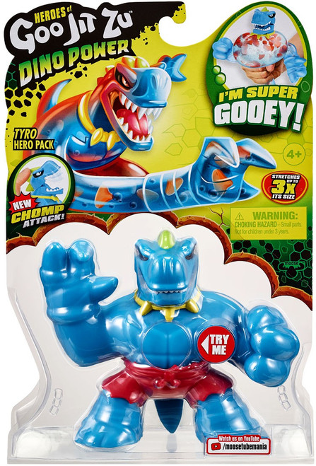 Heroes of Goo Jit Zu Dino Power (Series 3) Tyro the T-Rex Action Figure [Red Shorts!]