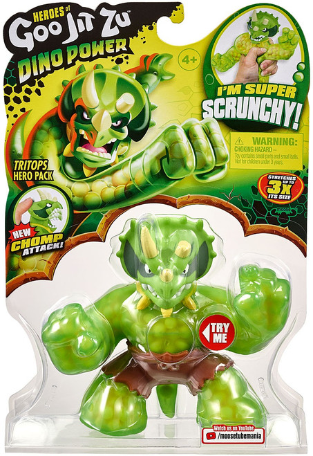 Heroes of Goo Jit Zu Dino Power (Series 3) Tritops the Triceratops Action Figure