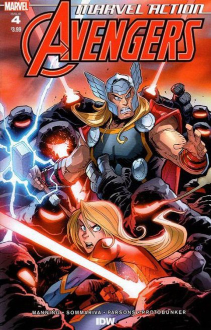 IDW Publishing Marvel Action: Avengers #4A Comic Book