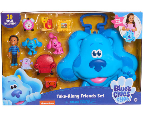 Blue's Clues & You! Take Along Friends Set Carry Case Playset [10 Figures Included!]