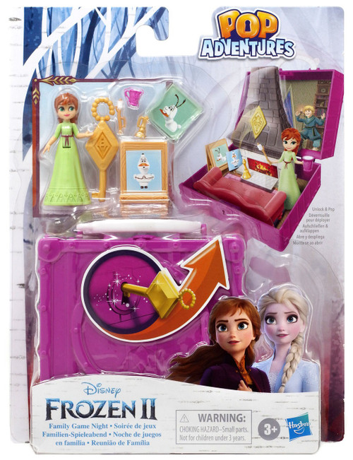 Disney Frozen 2 Pop Adventures Family Game Night 2.25-Inch Pop-up Playset