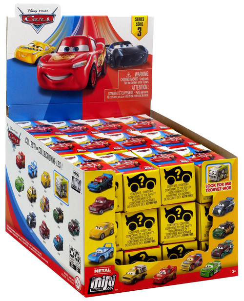Disney Cars 3 Metal Mini Racers Series 3 Mystery Box [36 Packs]
