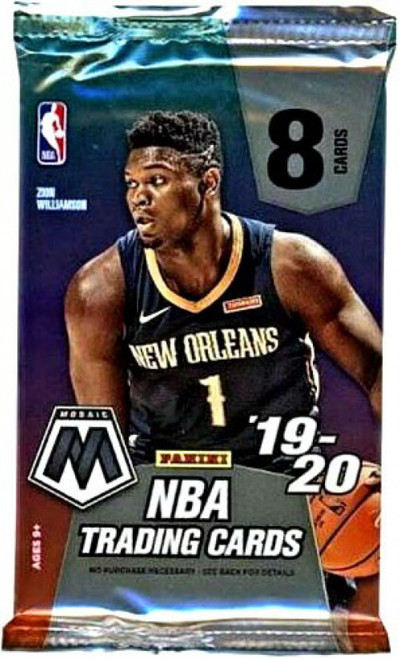 NBA Panini 2019-20 Prizm Mosaic Basketball Exclusive Trading Card MEGA Pack [8 Cards]
