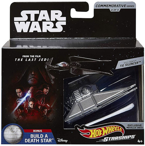 Hot Wheels Star Wars Starships Commemorative Series Kylo Ren's TIE Silencer Diecast Vehicle #8 [Includes Build a Death Star Piece!]