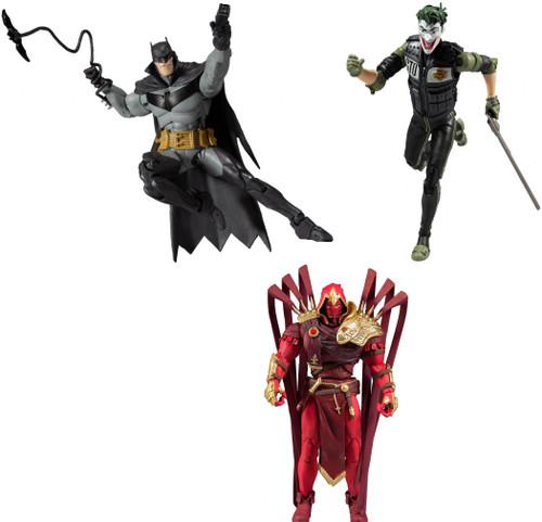 McFarlane Toys DC Multiverse Batman, Joker & Azrael Set of 3 Action Figures [White Knight]