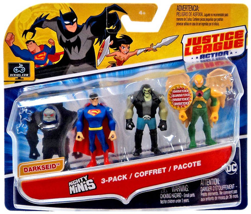 Justice League Action Mighty Minis Build Darkseid Superman, Lobo & Hawkman Mini Figure 3-Pack [Damaged Package]