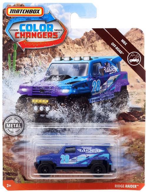 Matchbox Color Changers MBX Off-Road Ridge Raider Diecast Vehicle