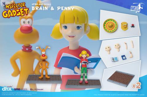 5Pro Studios Inspector Gadget Brain & Penny MEGAHERO Action Figure (Pre-Order ships January)