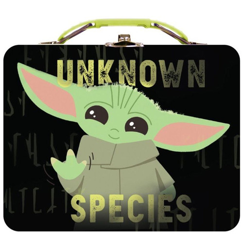 Star Wars The Mandalorian Baby Yoda Unknown Species Tin Carry All (Pre-Order ships November)