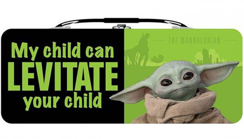 Star Wars The Mandalorian Baby Yoda My Child Can Levitate Your Child Tin Tote Box with Handle (Pre-Order ships November)