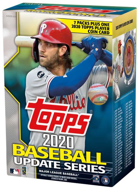 MLB Topps 2020 Update Series Baseball Trading Card BLASTER Box [7 Packs + 1 Coin Card]