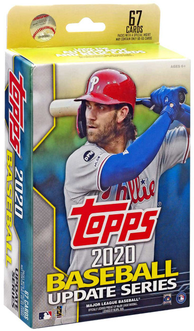 MLB Topps 2020 Update Series Baseball Trading Card HANGER Box [67 Cards]
