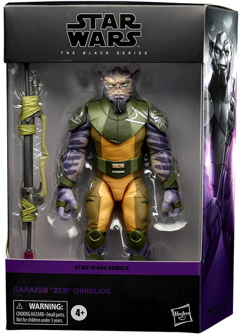 "Star Wars Rebels Black Series Garazeb ""Zeb"" Orrelios Deluxe Action Figure"