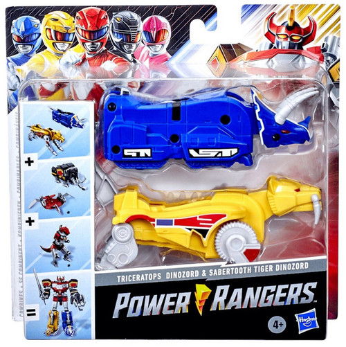 Power Rangers Mighty Morphin Triceratops & Sabertooth Tiger Dinozords Action Figure