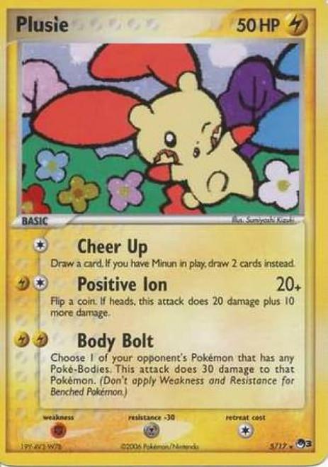 Pokemon Trading Card Game Organized Play Series 3 Rare Holo Plusle #5