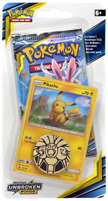 Pokemon Trading Card Game Sun & Moon Unbroken Bonds Pikachu BLISTER Pack [Booster Pack, Promo Card & Coin!]