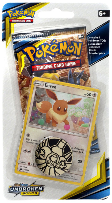 Pokemon Trading Card Game Sun & Moon Unbroken Bonds Eevee BLISTER Pack [Booster Pack, Promo Card & Coin!]