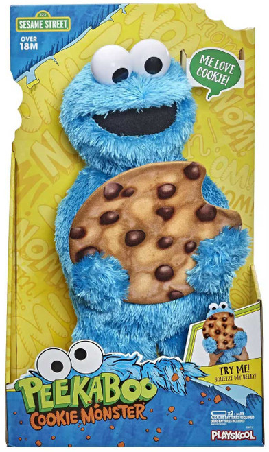 Sesame Street Peek-a-Boo Cookie Monster Figure (Pre-Order ships January)