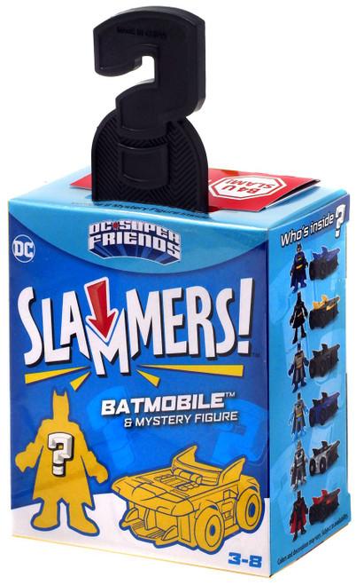 Fisher Price DC Super Friends Imaginext Slammers Batman 3-Inch Mystery Vehicle & Figure