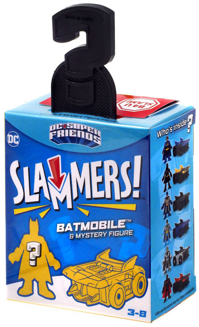 Fisher Price DC Super Friends Imaginext Slammers Batman 3-Inch Mystery Vehicle & Figure