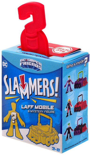 Fisher Price DC Super Friends Imaginext Slammers Laff Mobile 3-Inch Mystery Vehicle & Figure