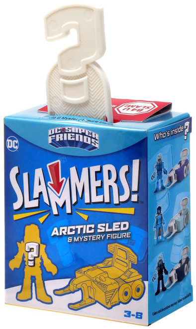 Fisher Price DC Super Friends Imaginext Slammers Arctic Sled 3-Inch Mystery Vehicle & Figure