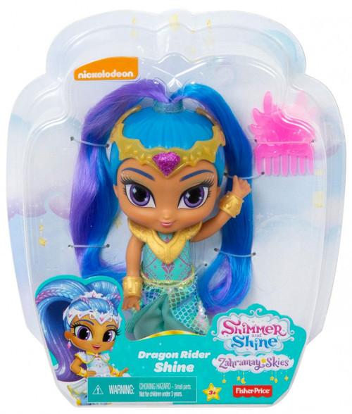 Fisher Price Shimmer & Shine Zahramay Skies Dragon Rider Shine 6-Inch Basic Doll
