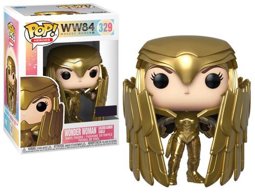 Funko DC Wonder Woman 1984 POP! Movies Wonder Woman Exclusive Vinyl Figure #329 [Golden Armor Shield]