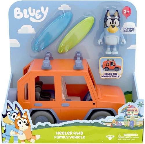 Bluey Heeler 4WD Family Vehicle Playset