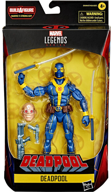 Marvel Legends Strong Guy Series Deadpool Action Figure [Yellow & Blue]