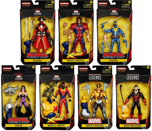 Marvel Legends Strong Guy Series Set of 7 Action Figures