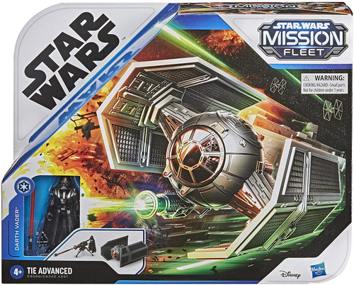 Star Wars Mission Fleet Darth Vader & TIE Advanced Vehicle & Action Figure