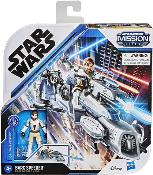 Star Wars Mission Fleet Obi Wan Kenobi & BARC Speeder Vehicle & Action Figure