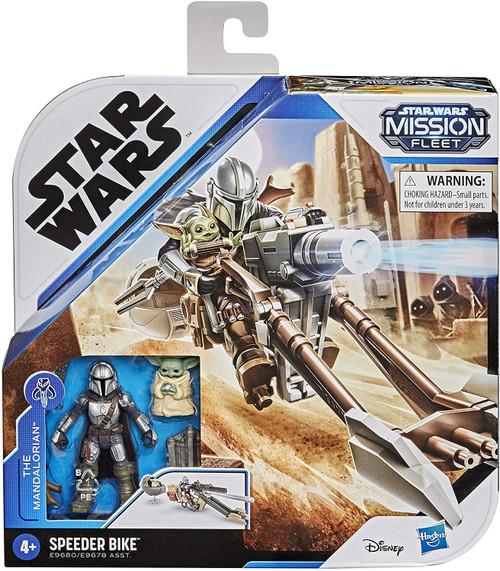 Star Wars Mission Fleet Mandalorian & Child with Speeder Bike Vehicle & Action Figure