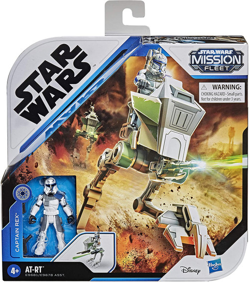 Star Wars Mission Fleet Captain Rex with AT-RT Vehicle & Action Figure