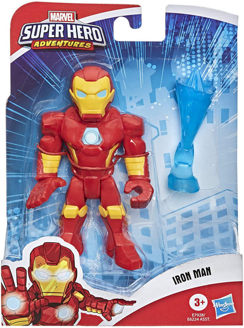 Marvel Playskool Heroes Super Hero Adventures Iron Man Action Figure Set