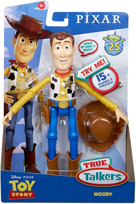 Toy Story 4 True Talkers Woody Action Figure [25th Anniversary]