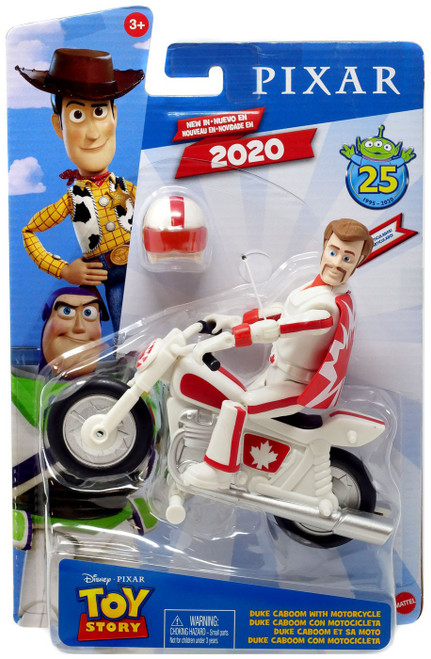 Toy Story 4 Posable Duke Caboom with Motorcycle Action Figure [25th Anniversary]