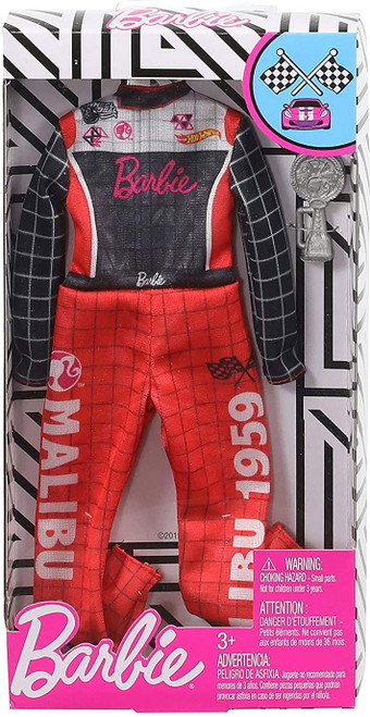 Barbie Career Outfit Racecar Driver with Trophy