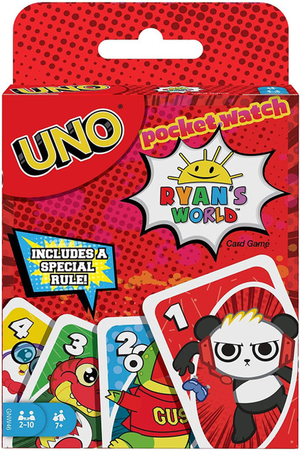 Pocket Watch Ryan's World UNO Card Game