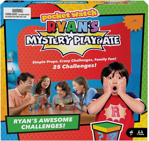 Pocket Watch Ryan's World Mystery Playdate Ryan's Awesome Challenges Game