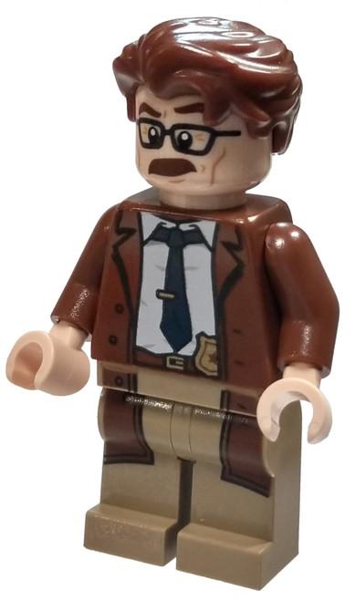 LEGO DC Universe Super Heroes Batman II Commissioner Gordon Minifigure [Reddish Brown Hair and Coat Loose]