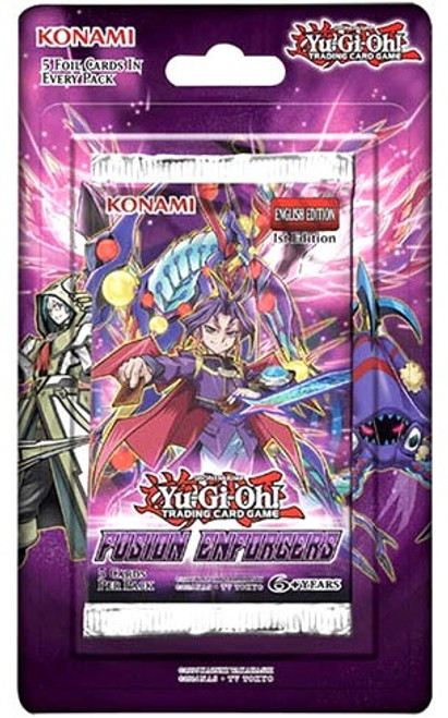 YuGiOh Trading Card Game Fusion Enforcers BLISTER Booster Pack [5 Cards]