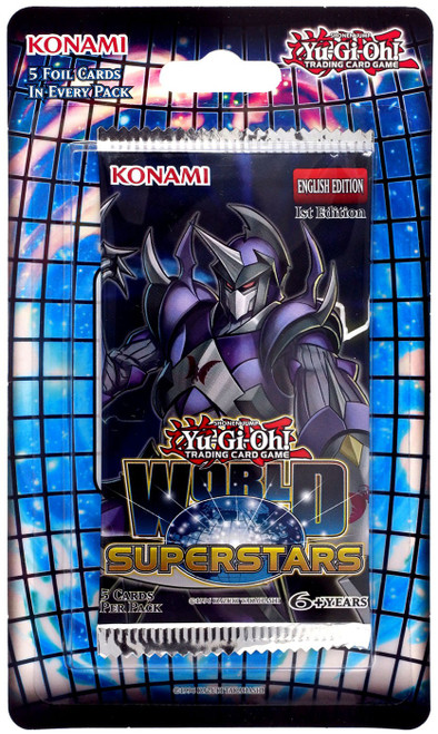 YuGiOh Trading Card Game World Superstars BLISTER Booster Pack [5 Cards]