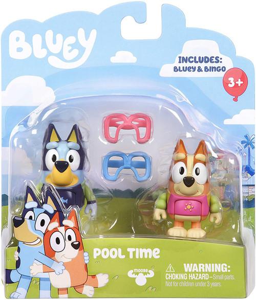 Bluey Pool Time Mini Figure 2-Pack [Bluey & Bingo]