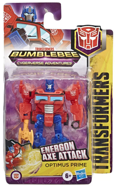 Transformers Cyberverse Adventures Action Attackers Optimus Prime Scout Action Figure [Energon Axe Attack]